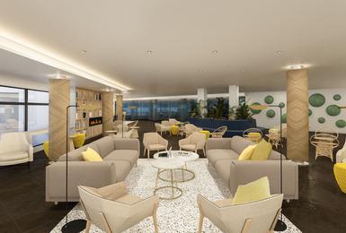 Sala d'estar- Renovat el 2020 Hotel AluaSoul Palma (Només adults) Cala Estancia, Mallorca