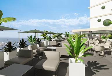 Terrassa- Renovat el 2020 Hotel AluaSoul Palma (Només adults) Cala Estancia, Mallorca