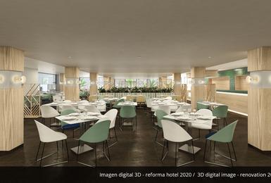 Restaurant bufet- Renovat el 2020 Hotel AluaSoul Palma (Només adults) Cala Estancia, Mallorca