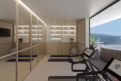 Gimnàs- Renovat el 2020 Hotel AluaSoul Palma (Només adults) Cala Estancia, Mallorca